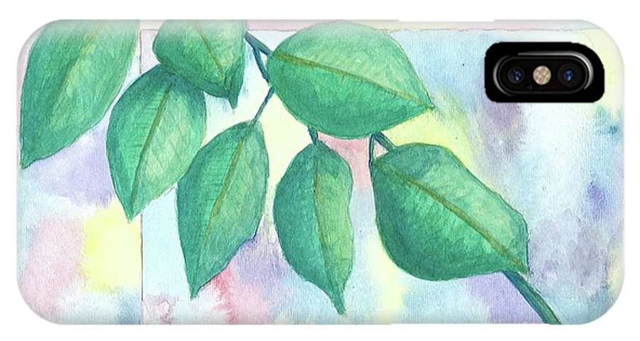 Watercolor IPhone X Case featuring the painting Untitled by Billinda Brandli DeVillez