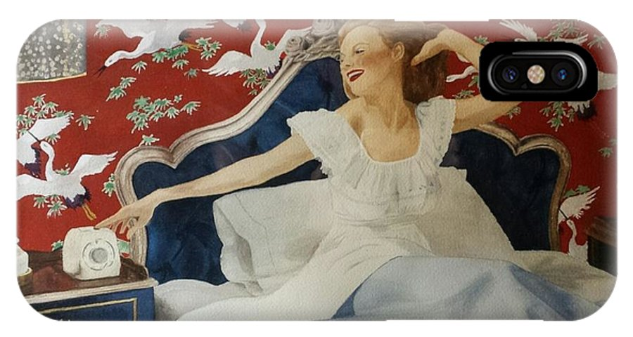Portrait IPhone X / XS Case featuring the painting Rise And Shine by David Corrigan