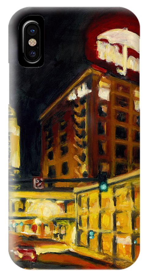 Rob Reeves IPhone X Case featuring the painting Untitled In Red And Gold by Robert Reeves