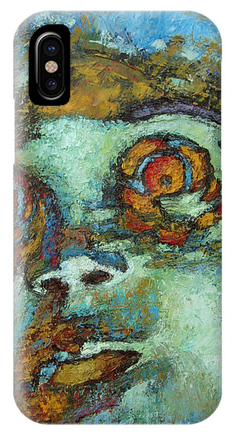 Oil IPhone X Case featuring the painting Untitled by Ioulia Sotiriou