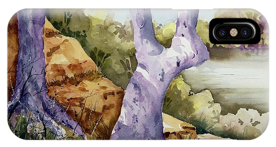 Tree IPhone X Case featuring the painting Untitled by Sam Sidders