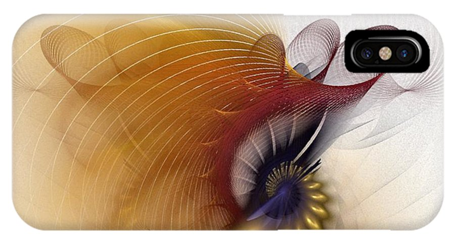 Abstract IPhone X Case featuring the digital art Untitled Study No.601 by NirvanaBlues