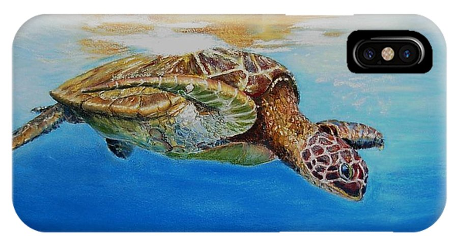 Wildlife IPhone Case featuring the painting Up For Some Rays by Ceci Watson