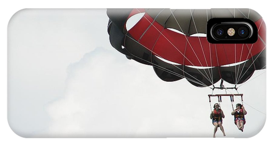 Parasail IPhone Case featuring the photograph Up Up And Away by Kelly Mezzapelle