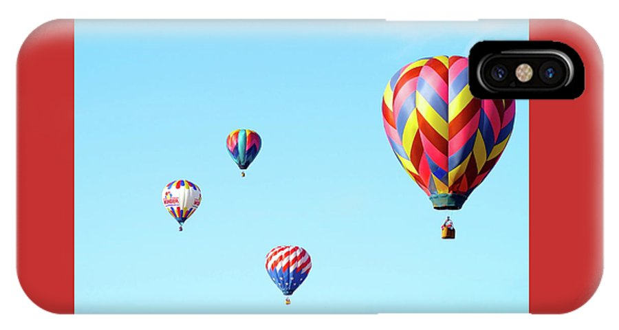 Balloons IPhone X Case featuring the photograph Up Up And Away by Linda Cupps