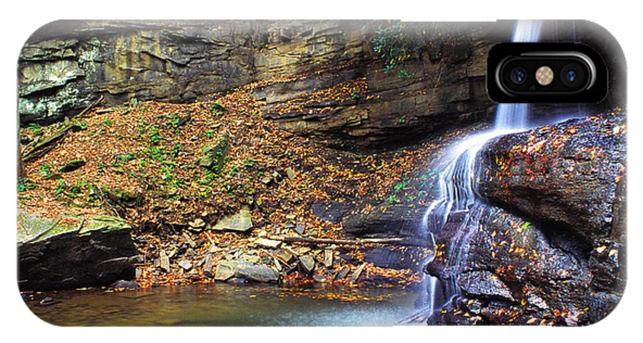 Holly River State Park IPhone X Case featuring the photograph Upper Falls Holly River by Thomas R Fletcher
