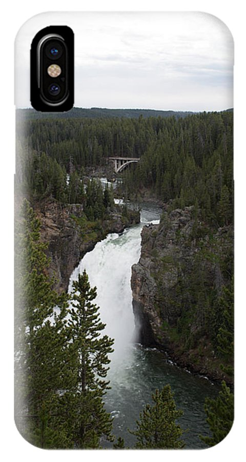 Yellowstone National Park IPhone X Case featuring the photograph Upper Falls by Linda Kerkau