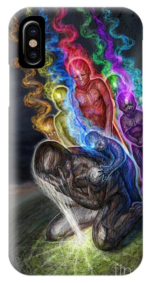 Tonykoehl IPhone X Case featuring the mixed media Ur Not Alone by Tony Koehl