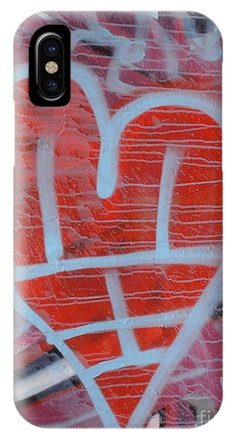 Urban Art IPhone X Case featuring the photograph Urban Heart by Chandelle Hazen