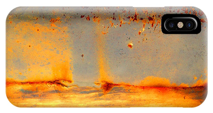 Rust IPhone X Case featuring the photograph Urban Landscapes by Tara Turner