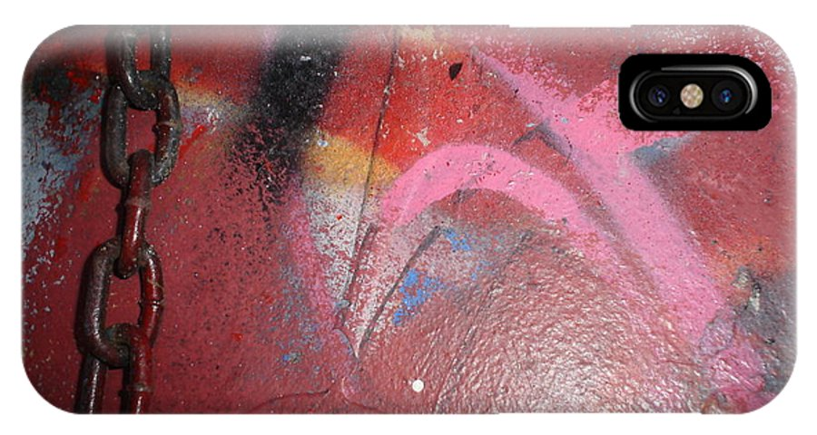 Urban Art IPhone X Case featuring the photograph Urban Love Chain by Chandelle Hazen