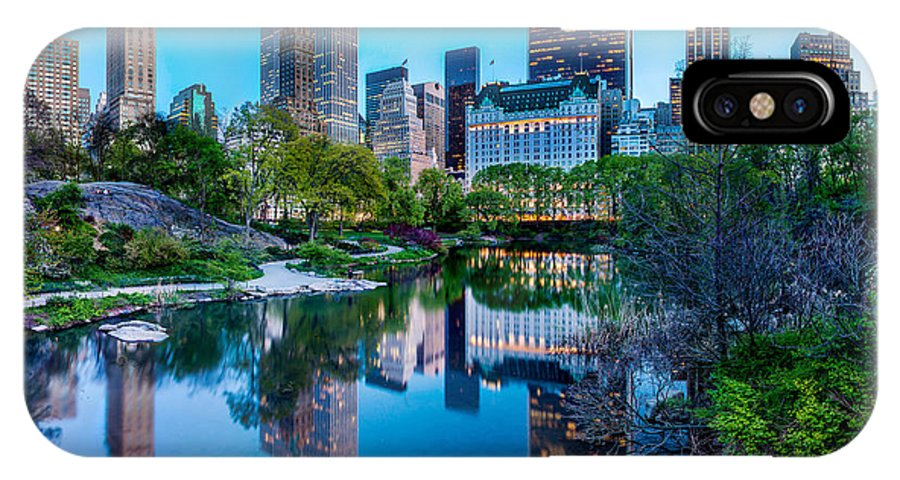 Central Park IPhone X Case featuring the photograph Urban Oasis by Az Jackson