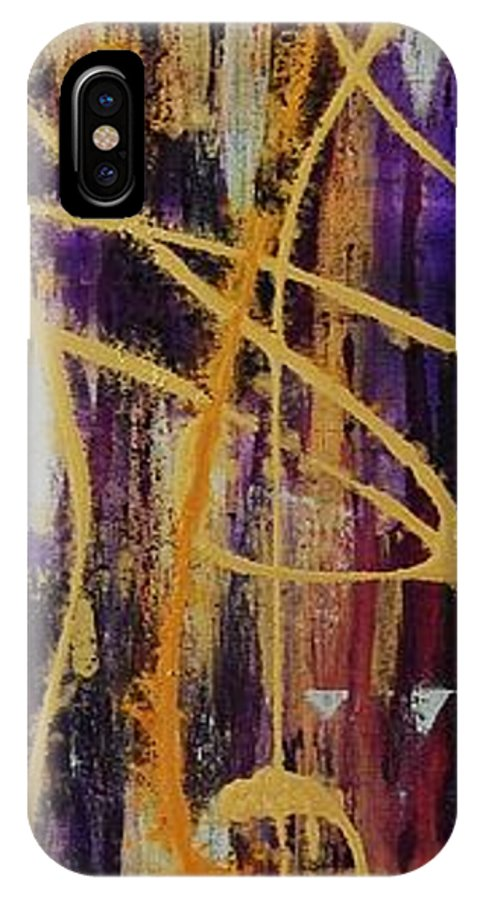 Abstract IPhone Case featuring the painting Urban Royality by Lauren Luna