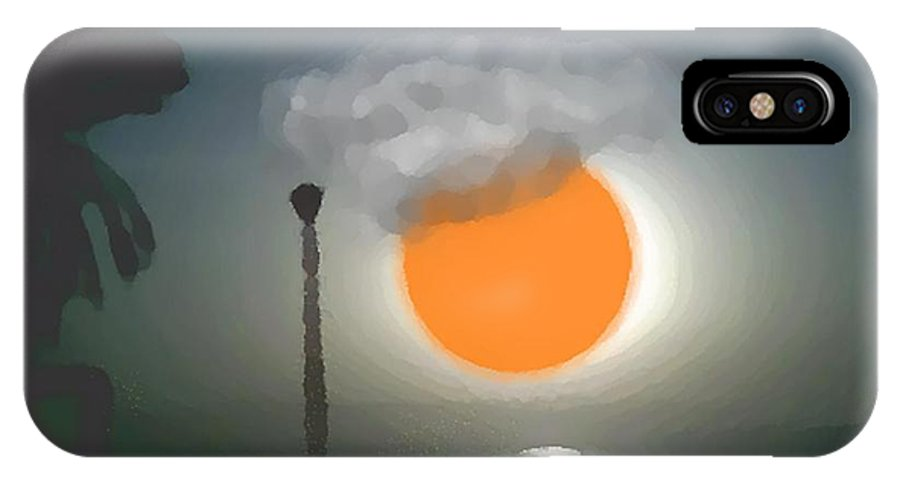 Urban.sea.sunset.sky.sun.water Sun Reflection.coast. IPhone X Case featuring the digital art Urban Sea Sunset by Dr Loifer Vladimir