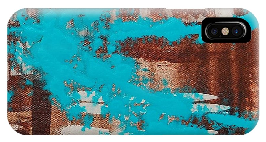 Urban IPhone Case featuring the painting Urbanesque II by Lauren Luna