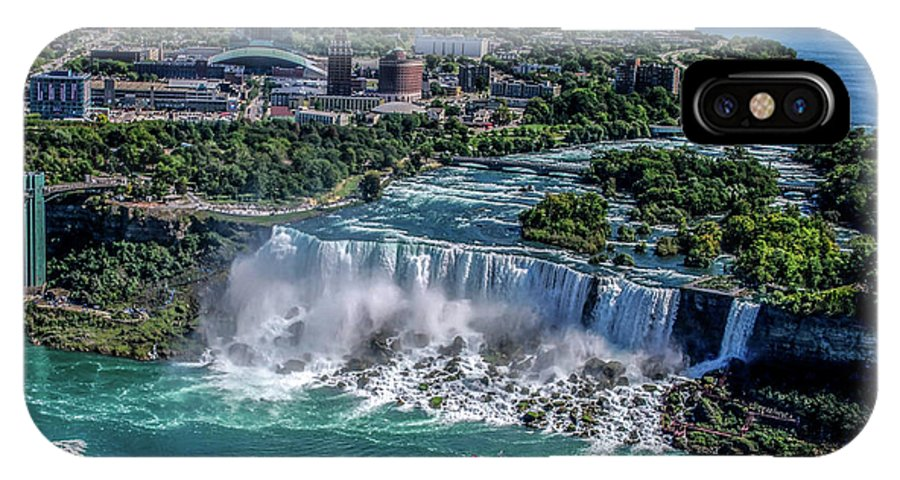 Niagara IPhone X Case featuring the photograph Niagara Falls by Kenny Kunzman