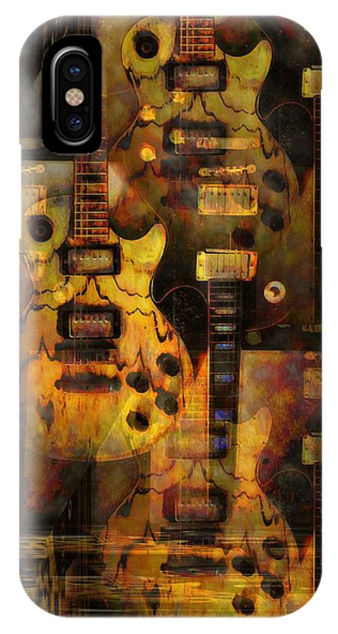 Guitar IPhone X Case featuring the photograph Use You Illusion by Bill Cannon