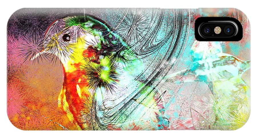 Bird IPhone Case featuring the painting Vagabond by Miki De Goodaboom