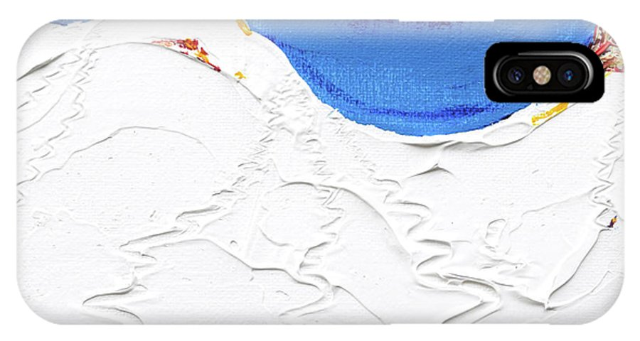 Valluga IPhone X Case featuring the painting North Face Valluga by Pete Caswell