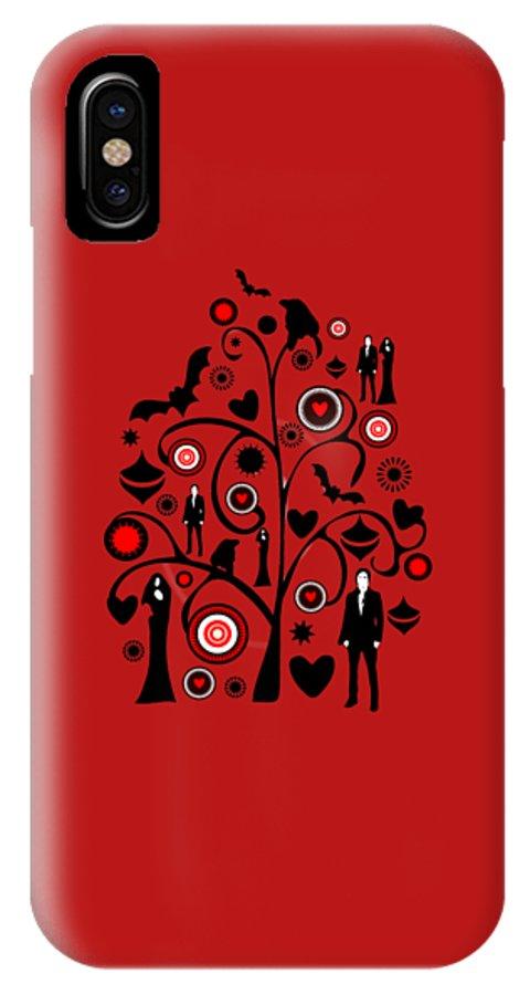 Interior IPhone X Case featuring the digital art Vampire Art by Anastasiya Malakhova