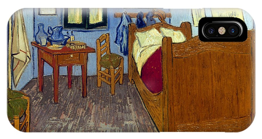 1889 IPhone X Case featuring the photograph Van Gogh: Bedroom, 1889 by Granger