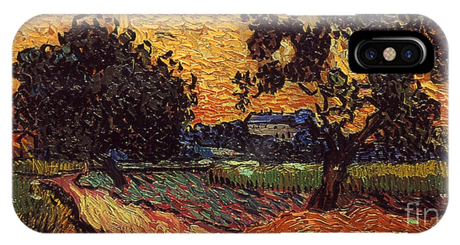 1890 IPhone X Case featuring the photograph Van Gogh: Castle, 1890 by Granger