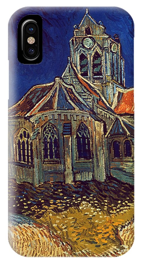 1890 IPhone X Case featuring the photograph Van Gogh: Church, 1890 by Granger