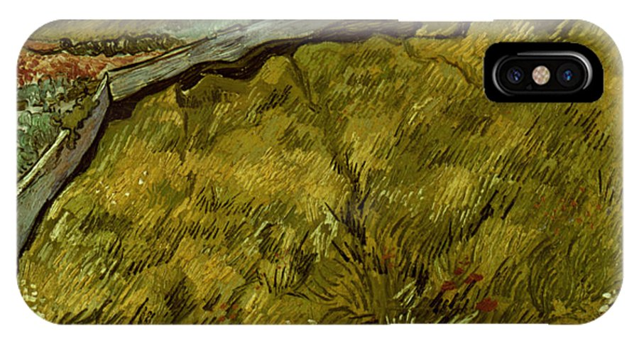 1890 IPhone X Case featuring the photograph Van Gogh: Field, 1890 by Granger