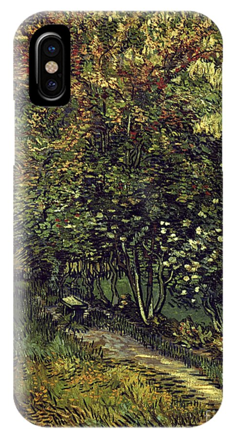 1889 IPhone X Case featuring the photograph Van Gogh: Hospital, 1889 by Granger