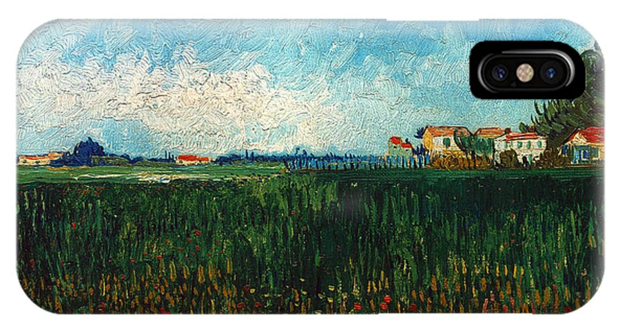 1888 IPhone X Case featuring the photograph Van Gogh: Landscape, 1888 by Granger
