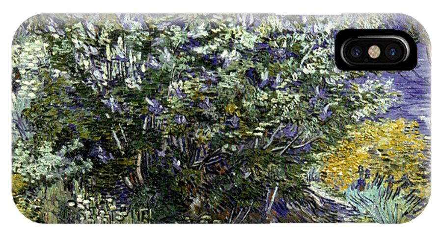 19th Century IPhone X Case featuring the photograph VAN GOGH: LILACS, 19th C by Granger
