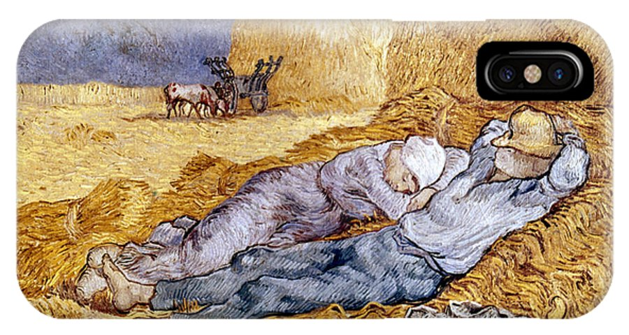 1890 IPhone X Case featuring the photograph Van Gogh: Noon Nap, 1889-90 by Granger