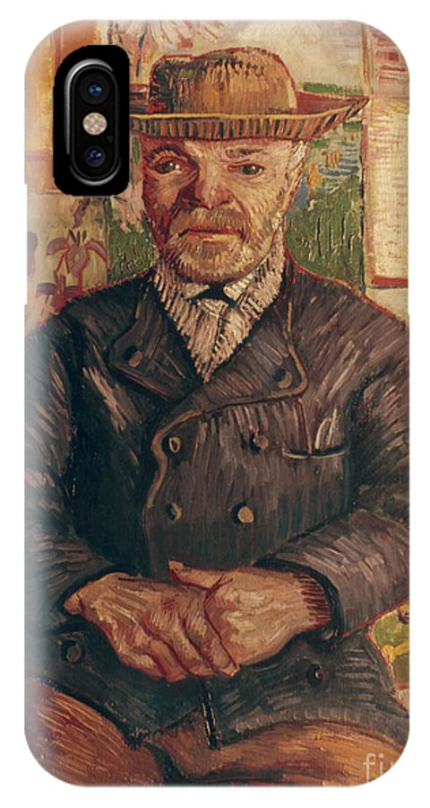 1887 IPhone X Case featuring the photograph Van Gogh: Pere Tanguy, 1887 by Granger
