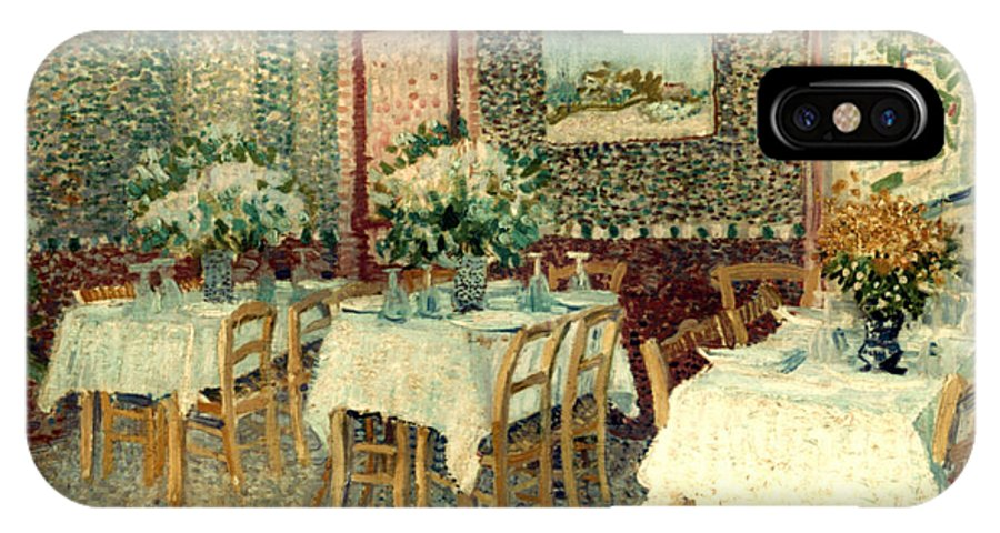 1887 IPhone X Case featuring the photograph Van Gogh: Restaurant, 1887 by Granger