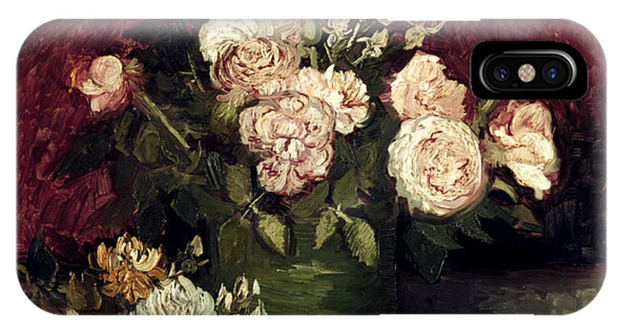 1886 IPhone X Case featuring the photograph Van Gogh: Roses, 1886 by Granger