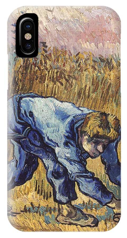 1889 IPhone X Case featuring the photograph Van Gogh: The Reaper, 1889 by Granger