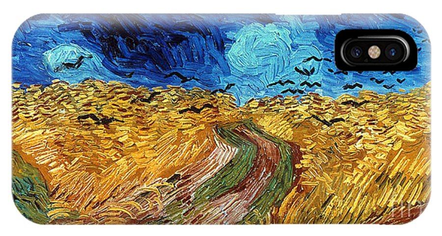 1890 IPhone X Case featuring the photograph Van Gogh: Wheatfield, 1890 by Granger