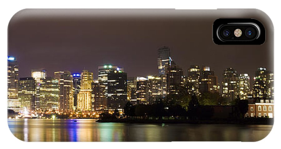 Vancouver IPhone Case featuring the photograph Vancouver By Night by Louise Magno
