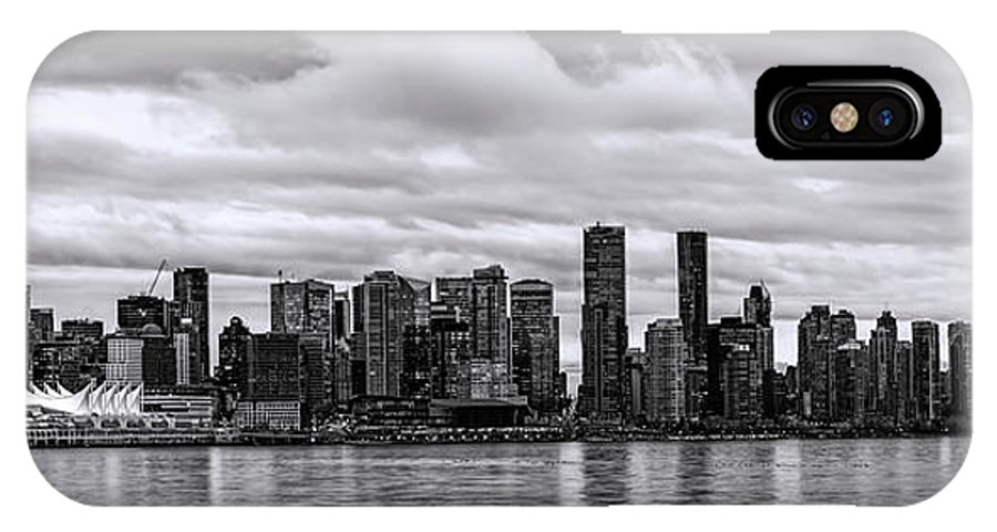 Vancouver IPhone X Case featuring the photograph Vancouver In Black And White. by Viktor Birkus