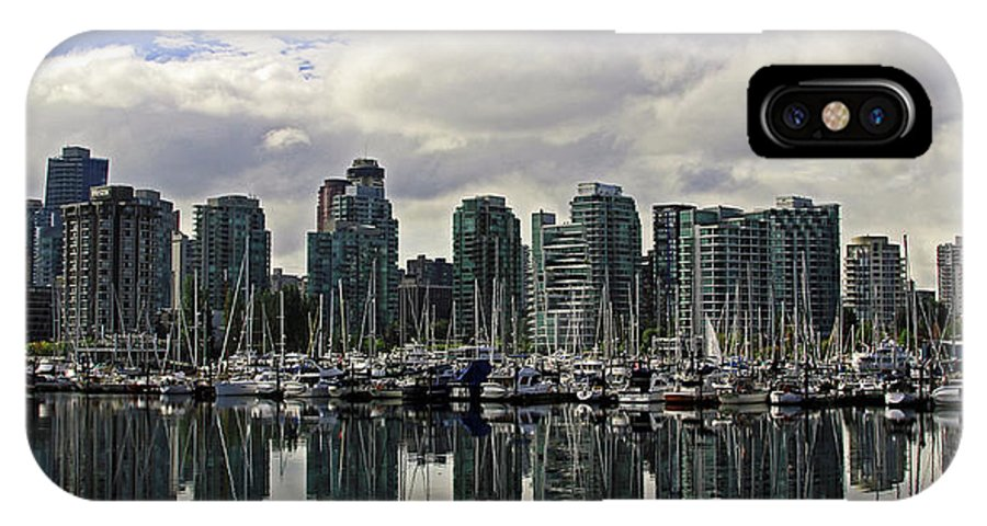 Vancouver IPhone X Case featuring the photograph Vancouver Marina by Walter Fahmy