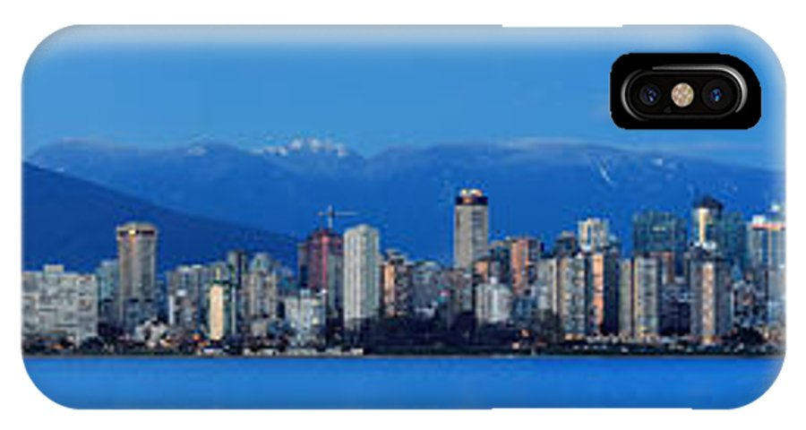 Vancouver IPhone X Case featuring the photograph Vancouver Panorama  This Can Be Printed Very Large by Pierre Leclerc Photography