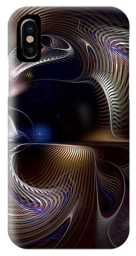 Abstract IPhone X Case featuring the digital art Variations On Varese by Casey Kotas