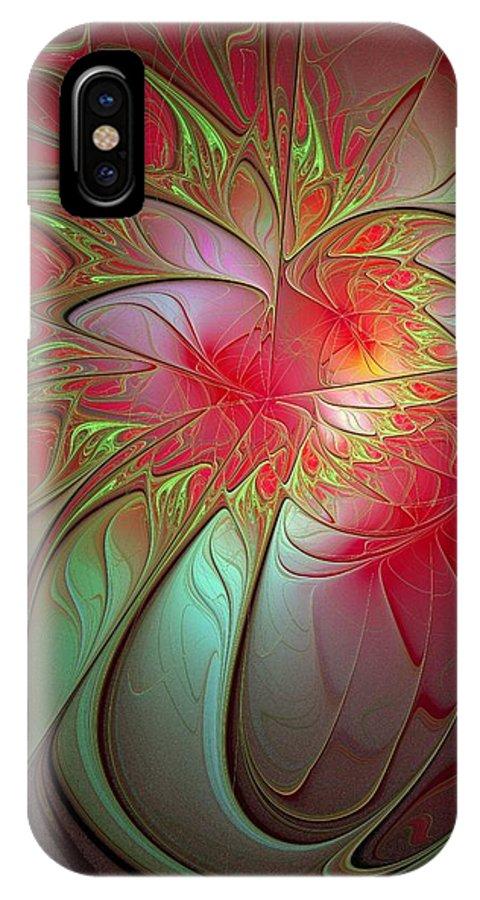 Digital Art IPhone Case featuring the digital art Vase Of Flowers by Amanda Moore