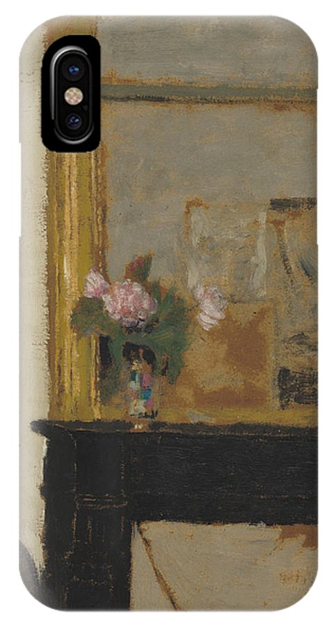 IPhone X Case featuring the painting Vase Of Flowers On A Mantelpiece by Edouard Vuillard