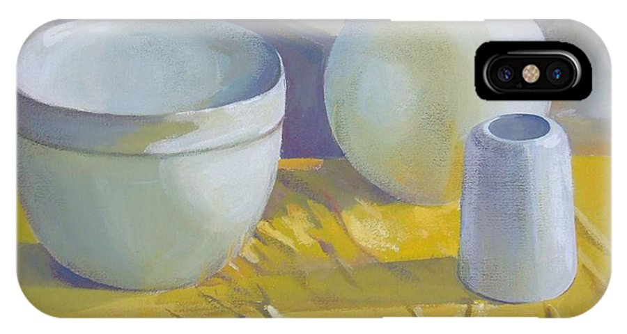 Still Life IPhone X / XS Case featuring the painting Vases by Elena Oleniuc