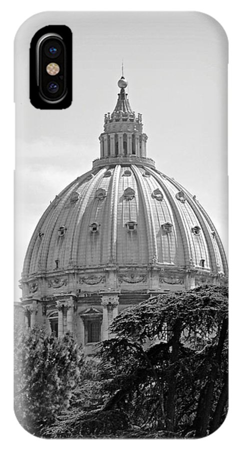 Vatican IPhone X Case featuring the photograph Vatican City Dome by Meghan Owens