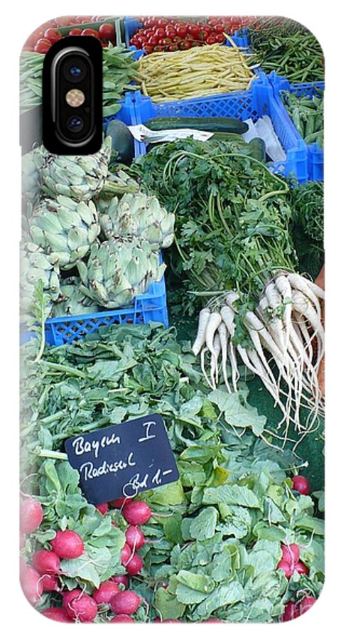 European Markets IPhone X Case featuring the photograph Vegetables At German Market by Carol Groenen