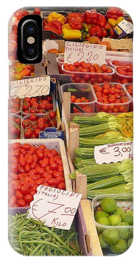 European Markets IPhone X Case featuring the photograph Vegetables At Italian Market by Carol Groenen