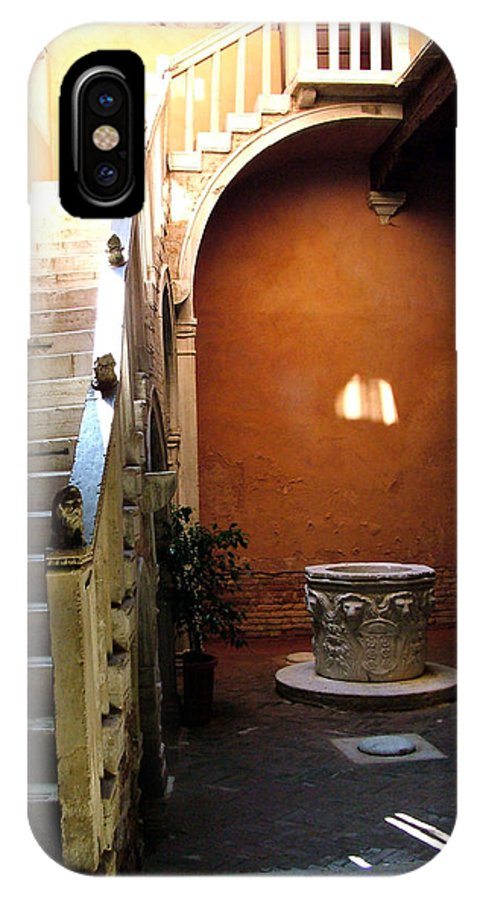 Architecture IPhone Case featuring the photograph Venetian Stairway by Donna Corless