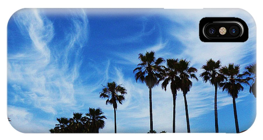 Venice Beach IPhone X Case featuring the photograph Venice Beach by Daniele Smith